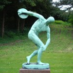 http://commons.wikimedia.org/wiki/File:Discus_Thrower_Copenhagen.jpg