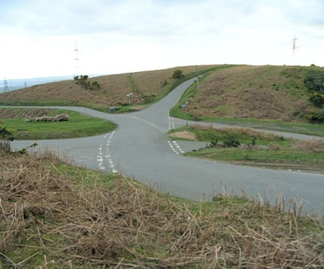 http://commons.wikimedia.org/wiki/File:Sprawling_mountain_road_junction_-_geograph.org.uk_-_153203.jpg